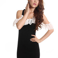 Lovable Fashion Chiffon Falbala White Beauty Dresses : Wholesaleclothing4u.com