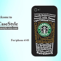 Starbucks--iphone 4 case unique iphone4 case gift i phone 4 cover case iphone 4s cover case iphone4s cover case iphone protection shell