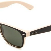 Amazon.com: Ray-Ban New Wayfarer New Wayfarer Square Sunglasses,Black On Beige Frame/Green Lens,55 mm: Ray-Ban: Shoes