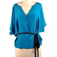 Teal Me No Lies Blouse | Indie Retro Vintage Inspired Blouses| Poetrie