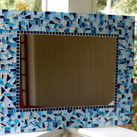 Mosaic Art, Large Wall Mirror, Custom