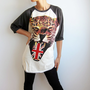 Leopard Animal Union Jack Shirt UK Flag Punk Rock Baseball T Shirt Raglan Long Sleeve Shirts Size S