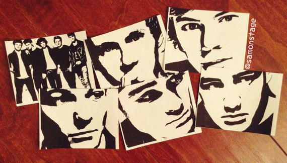 One Direction Pop Art Stickers from samonstage on Etsy ...