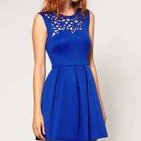 It's Complicated Blue Pleated Dress