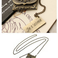Vintage Love Letter Necklace [X359] - $10.20 - To February ♥ Specialized in Asian Fashion, Jewelry, and Accessories from Korea, Japan, Hong Kong, Taiwan, and China