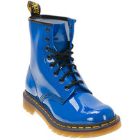 Dr. Martens Women's 1460 Blue Patent Lace-Up Boot | Infinity Shoes