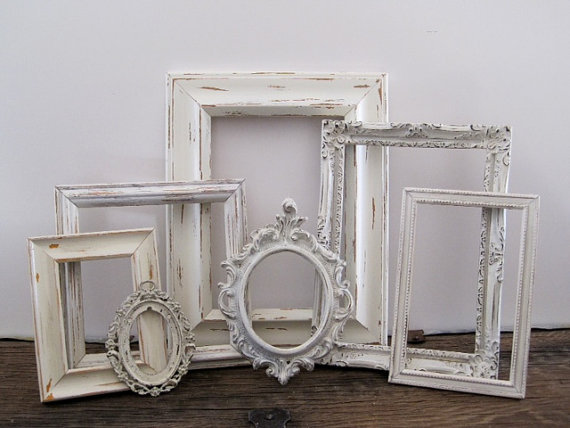 Open picture frame set of 7 small shabby from sea love and for 3 suisses decoration murale