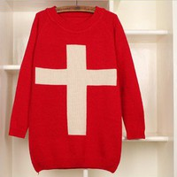 Cross Sweater (multiple colors) from from: Us to: You