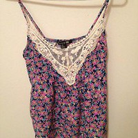 Forever 21 Floral and Lace Top