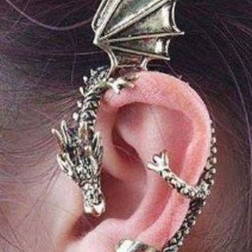 Amazon.com: New Dragons Lure Cuff Pewter Earring Party: Beauty