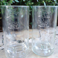 Captain Morgan Glasses made from Recycled Captain Morgan Rum Bottles Set of 2