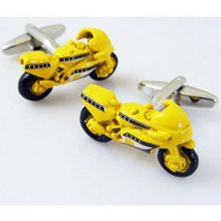 Yellow Motor Bicycle Cufflinks