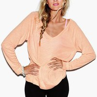 Long Sleeve V-Neck Raglan Tee - Victorias Secret PINK - Victoria&#x27;s Secret