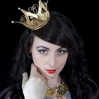 Gold Crown Alice in Wonderland Queen Princess by PearlsandSwine