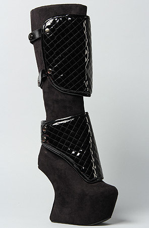 Jeffrey Campbell The Noches Boot in Black Suede Combo : Karmaloop.com - Global Concrete Culture