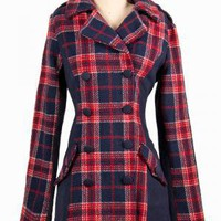 The Edinburgh Tartan Coat | Indie Retro Vintage Inspired Coats| Poetrie
