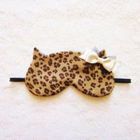 Leopard Cat Sleep Eye Mask