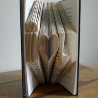 Boyfriend Anniversary Gift / Girlfriend Gift - Paper Anniversary - Valentine - i love u - Folded Book Art