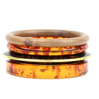 Tortoise & Wood Bangle Set - Buy From ShopDesignSpark.com