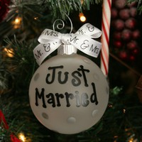 Just Married ornament Just married mr and mrs by rachelwalter