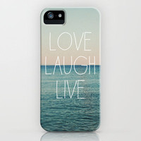 Love Laugh Live #2 iPhone Case by Alicia Bock | Society6