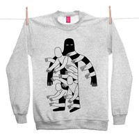 Street Market — Ohh Deer - The Hole - Grey Sweater By Jack Teagle