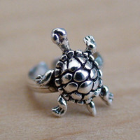 Turtle Ear Cuff Earring - 925 Sterling Silver - No Piercing Clip On *NEW*