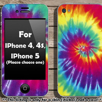 Buy 2 get 1 free - Tie dye skin for Iphone 4, 4s or Iphone 5 (Please choose)