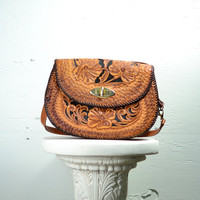 1940s Tooled Flower Purse