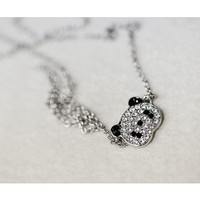 Long Chain Cute Panda Pendant Necklace - Necklaces - Jewelry Free shipping