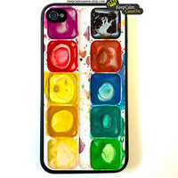 iPhone 4 Case Used Watercolor Box Iphone case,  iphone 4s Case