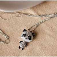 Cute Panda Pendant Sweater Chain Luxury Necklace - Necklaces - Jewelry Free shipping