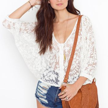 Juliet Lace Blouse in  What's New at Nasty Gal