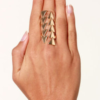 Point Palette Gold Ring
