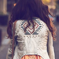 Free People Lace Up Vegan Leather Jacket