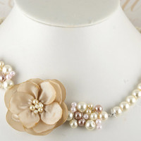 Bridesmaids necklace in your color scheme with Dupioni by SolBijou