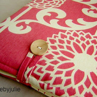Raspberry laptop bag, macbook pro 13 case, womens macbook bag, laptop case, mac book pro sleeve, Pink peony