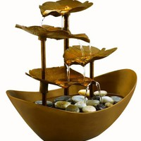 HoMedics WFL-GDN Envirascape Garden Leaves Illuminated Fountain, Copper