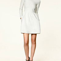COMBINED DRESS WITH COLLAR - Trf - Dresses - Collection - Woman - ZARA United States