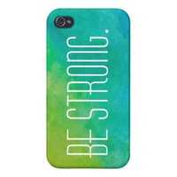 Be Strong Tie Dye iPhone 4 Case. from Zazzle.com