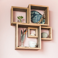 Barn wood shadow boxes / Modular square by musicalfurnishings