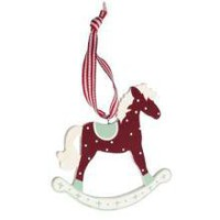 Rocking Horse Hanging Christmas Decoration | Tree Decorations | Christmas | £1.99 - The Contemporary Home Online Shop