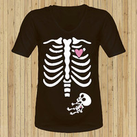 Xray xray  baby boy  skeleton Maternity shirt t by HappyApple996