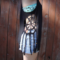 Dream catcher cutout tank top by simplylovelythreads on Etsy