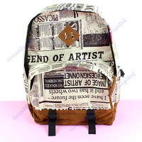 Men And Girl Canvas Korean Handbag Travel Purse Shoulder School Bag Backpacks