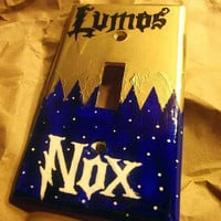 Lumos and Nox Lightswitch Plate Harry Potter Inspired by trophies