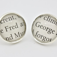 Harry Potter 'Fred' & 'George' Post / Stud by PrettyLittleCharmsUK