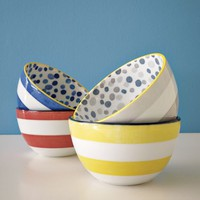 Dots + Stripes Bowls | west elm