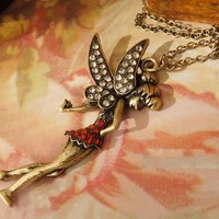 Tinkerbell Rhinestone Necklace