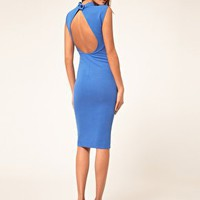 ASOS | ASOS Ribbed Midi Dress with Open Back at ASOS